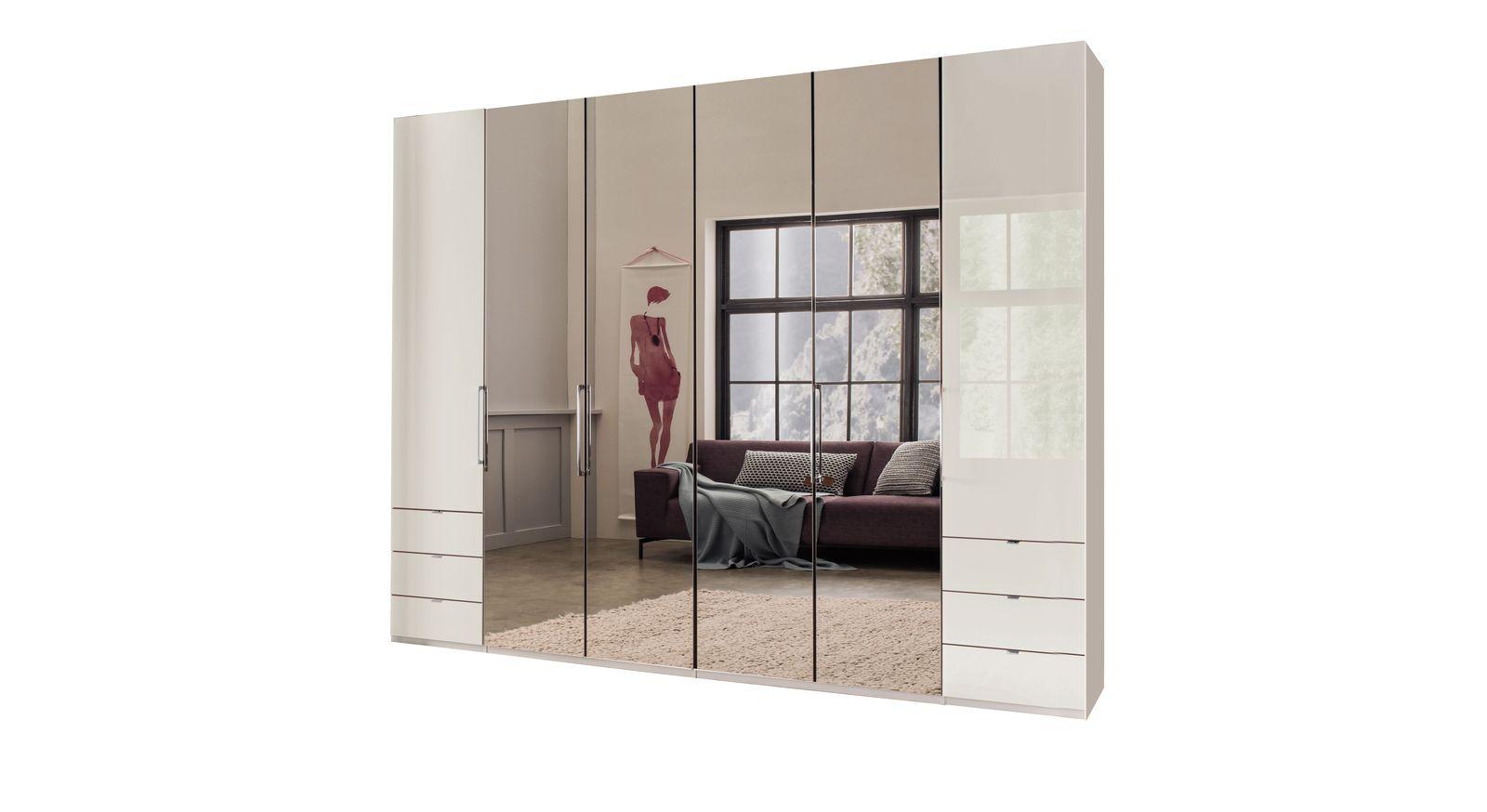 Spiegel-Funktions-Kleiderschrank Northville mit champagnerfarbenen Glasfronten