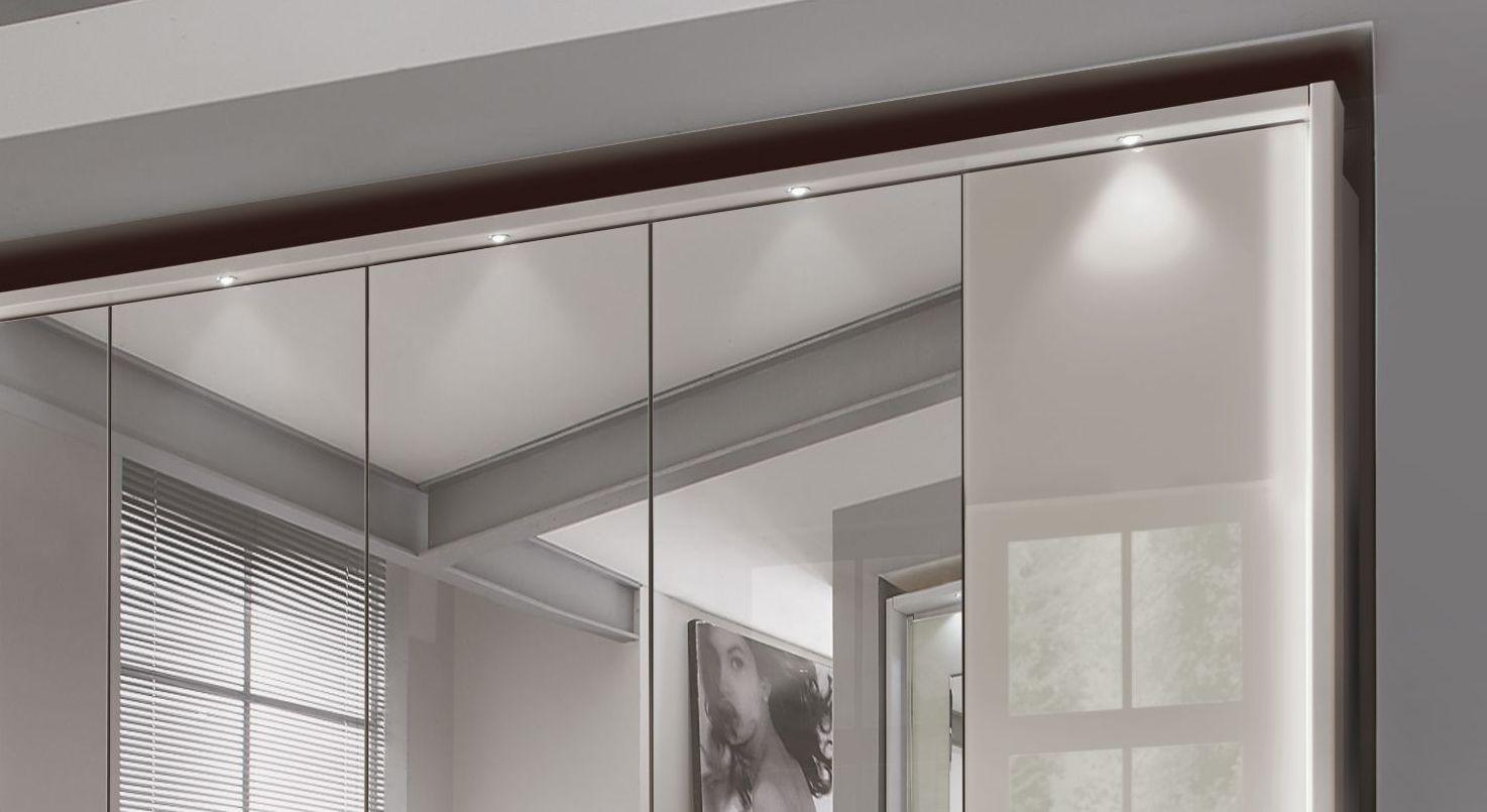 Spiegel-Funktions-Kleiderschrank Northville mit LED-Beleuchtung