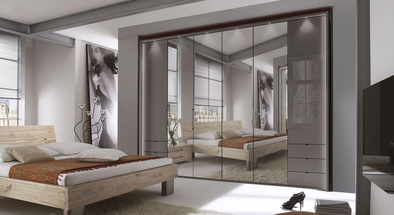Spiegel-Funktions-Kleiderschrank Southville mit eleganter Glasfront