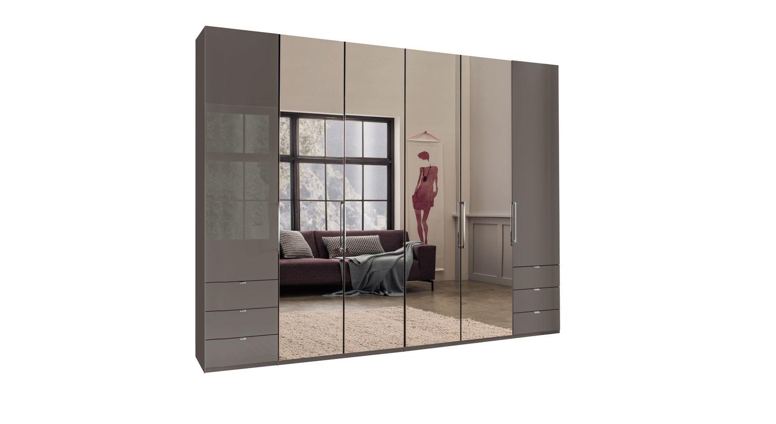 Robuster und stabiler Spiegel-Funktions-Kleiderschrank Southville
