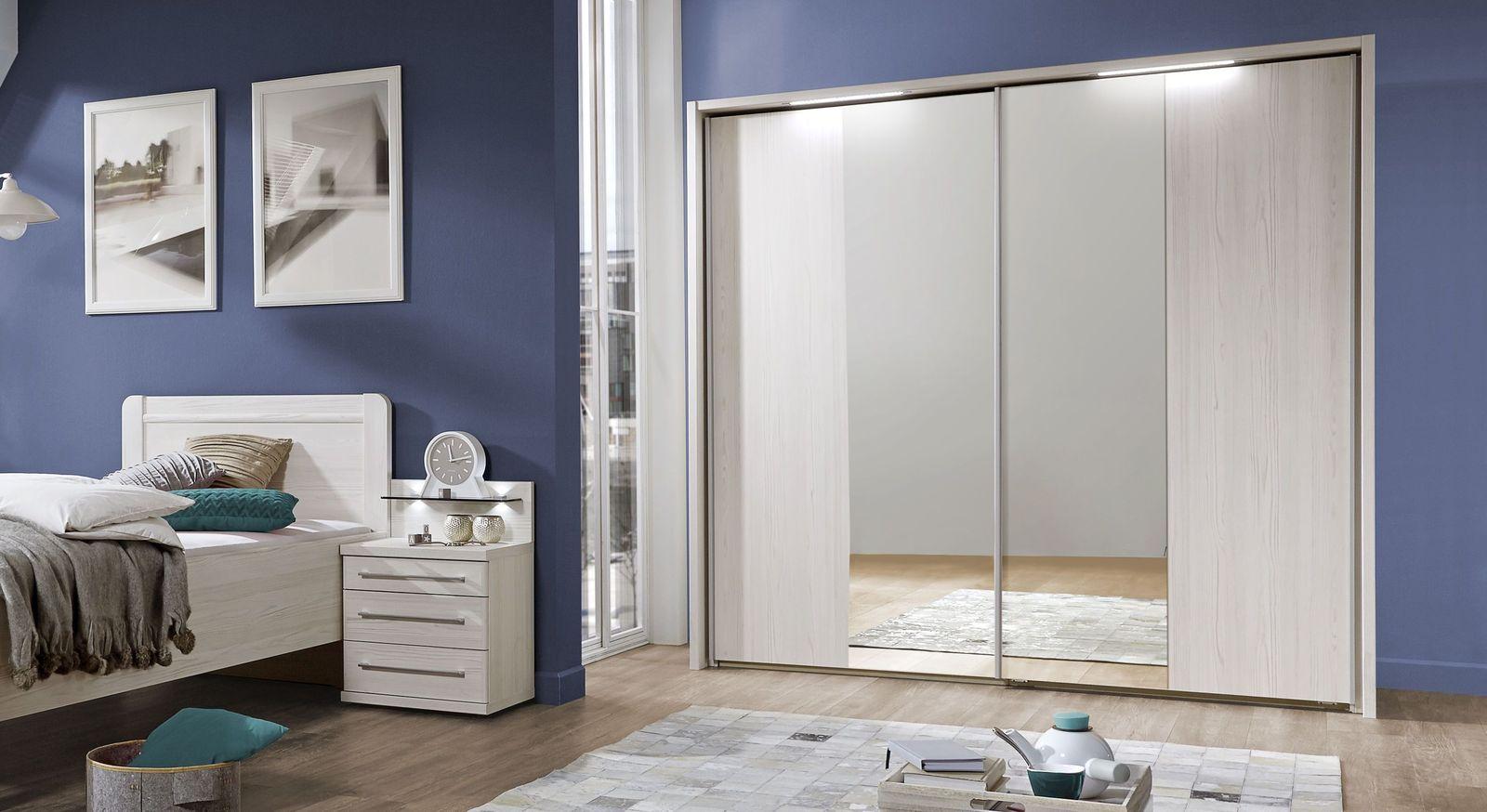Spiegel-Kleiderschrank Apolda mit Power-LED-Beleuchtung