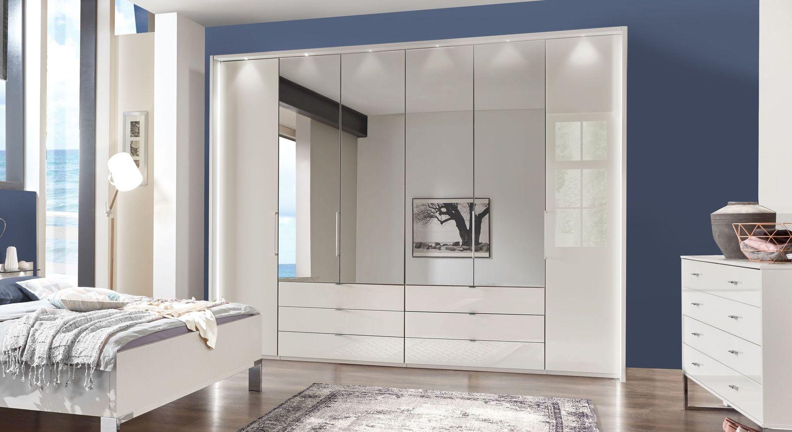 Spiegel-Kleiderschrank Elmira mit leichtgängigen Schubladenauszüge