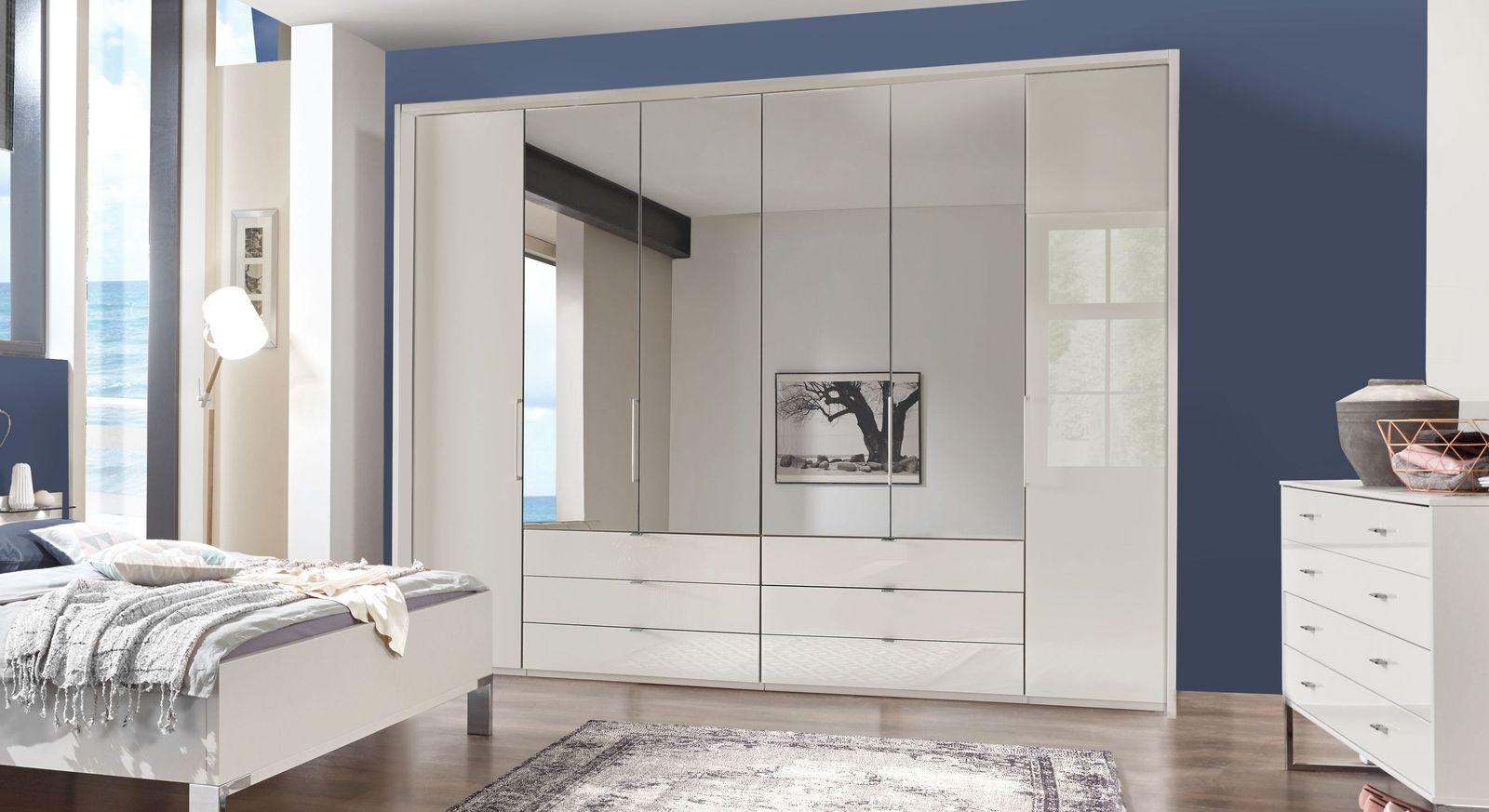 Spiegel-Kleiderschrank Elmira mit Falttüren und Drehtüren
