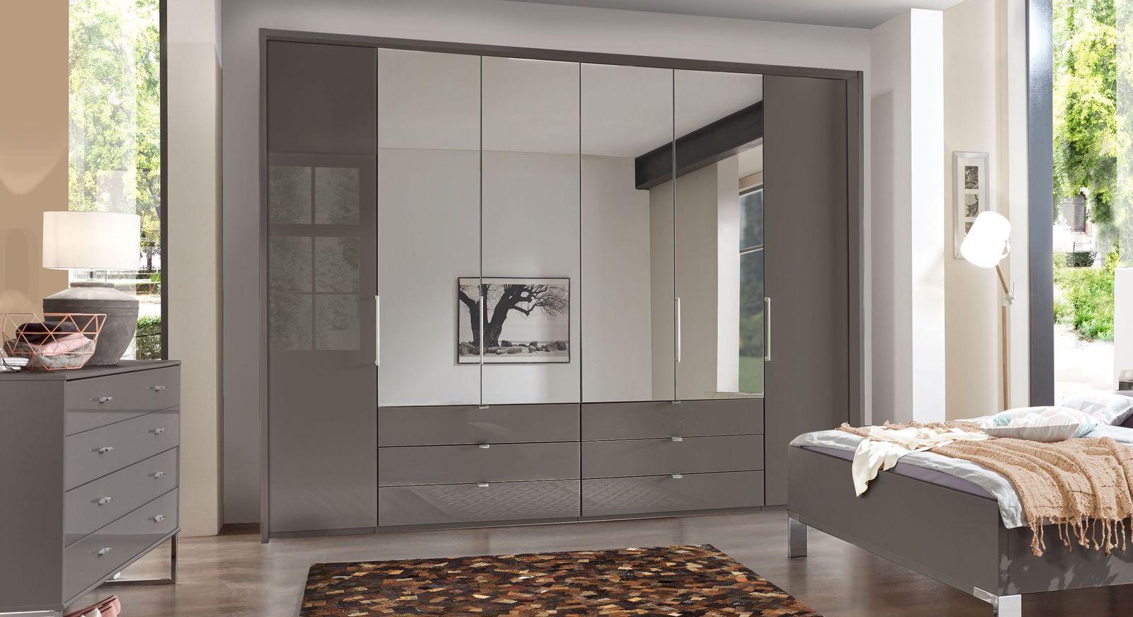kleiderschrank spiegel modern, spiegel-kleiderschrank mit glasfront und schubladen - harrow, Design ideen