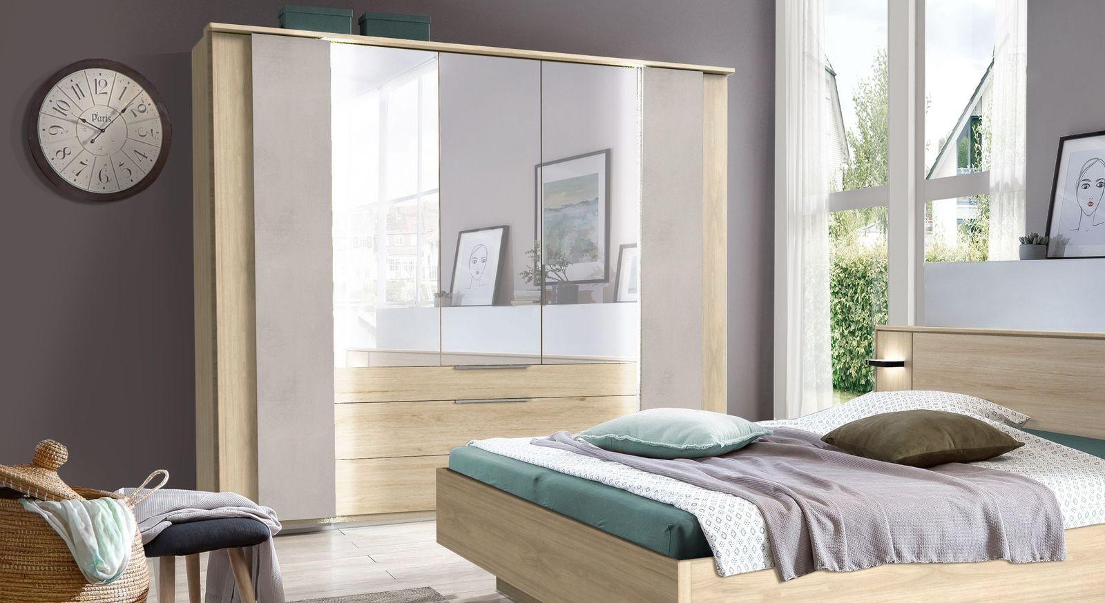 Spiegel-Kleiderschrank Hayward mit praktischen Koffertüren