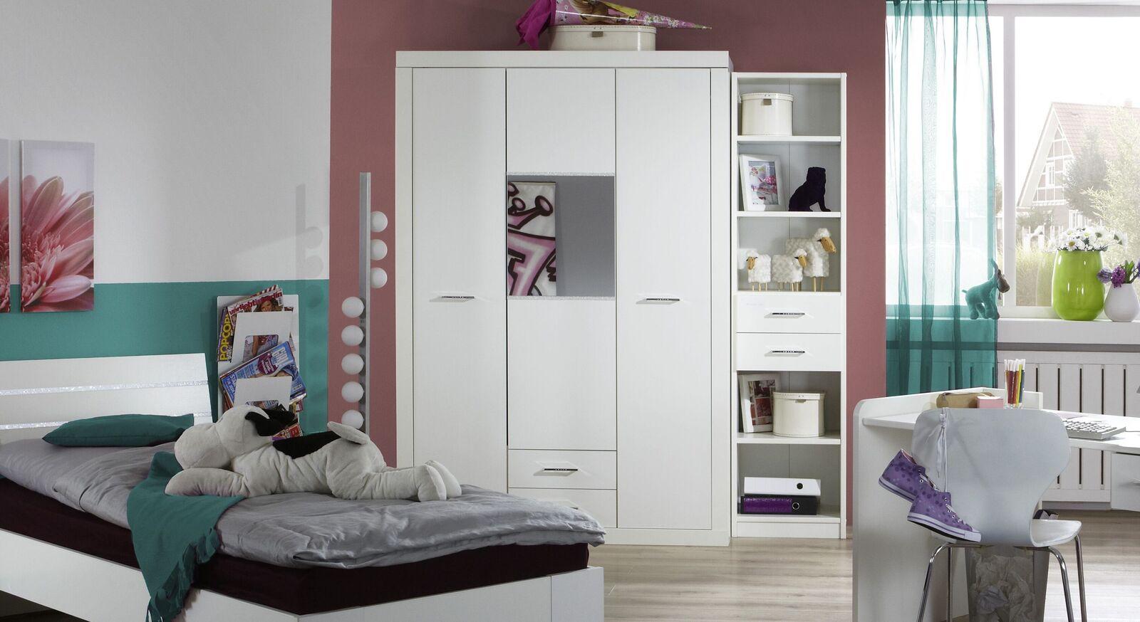 Spiegel-Kleiderschrank Lajana mit praktischen Schubladen