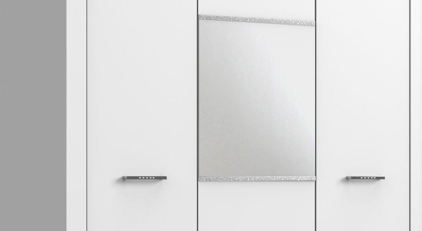 Spiegel-Kleiderschrank Lajanas Spiegel mit Strassstein-Streifen