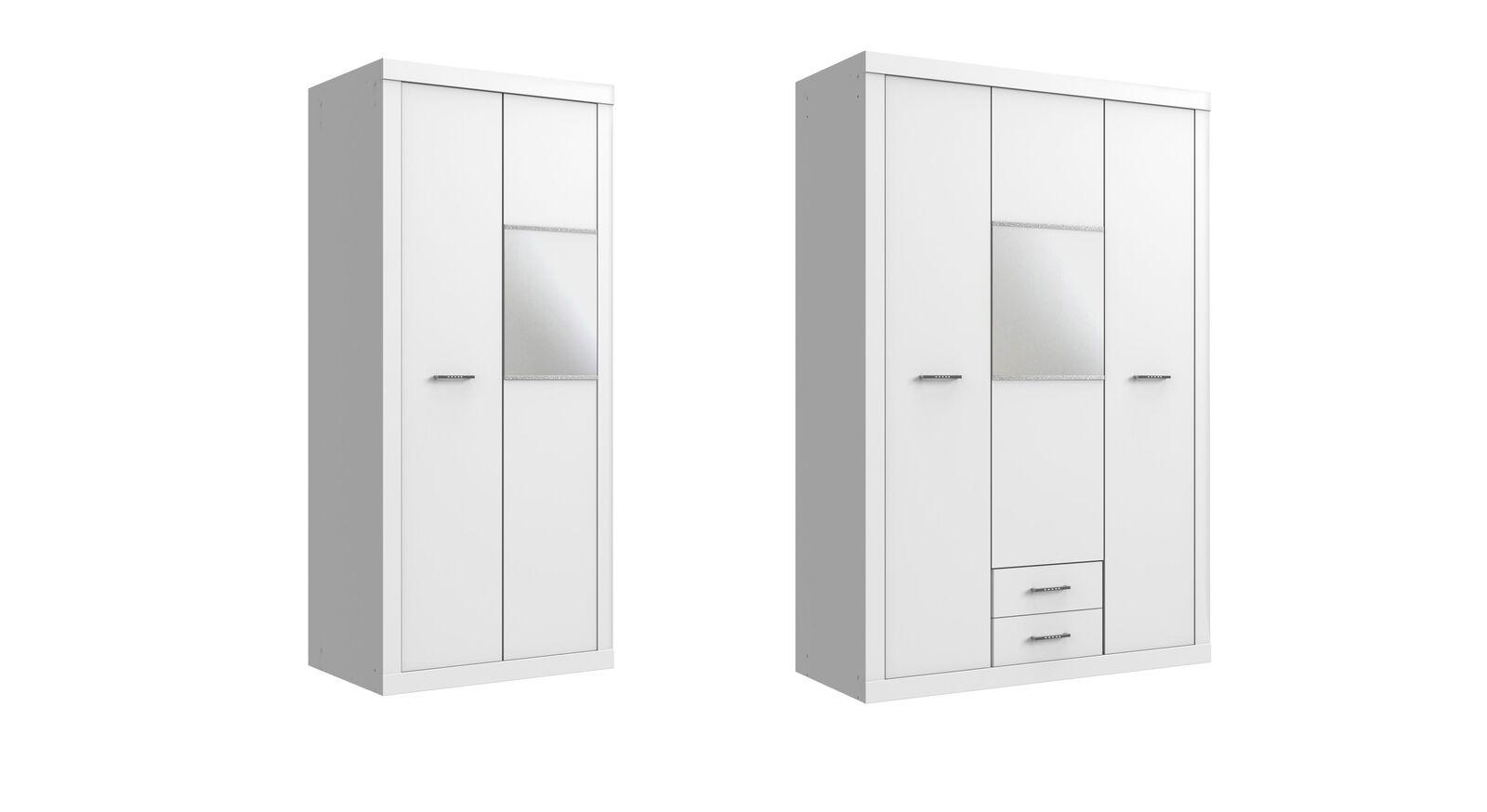 Spiegel-Kleiderschrank Lajana in zwei Ausführungen erhältlich