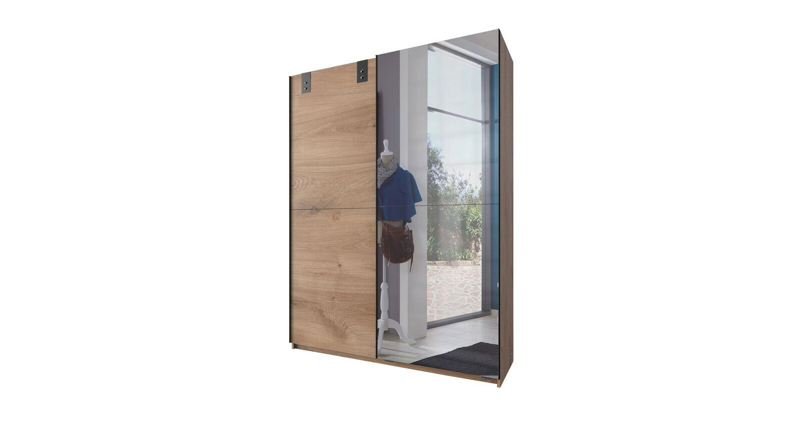 Spiegel-Schwebetüren-Kleiderschrank Nolans schmale Variante