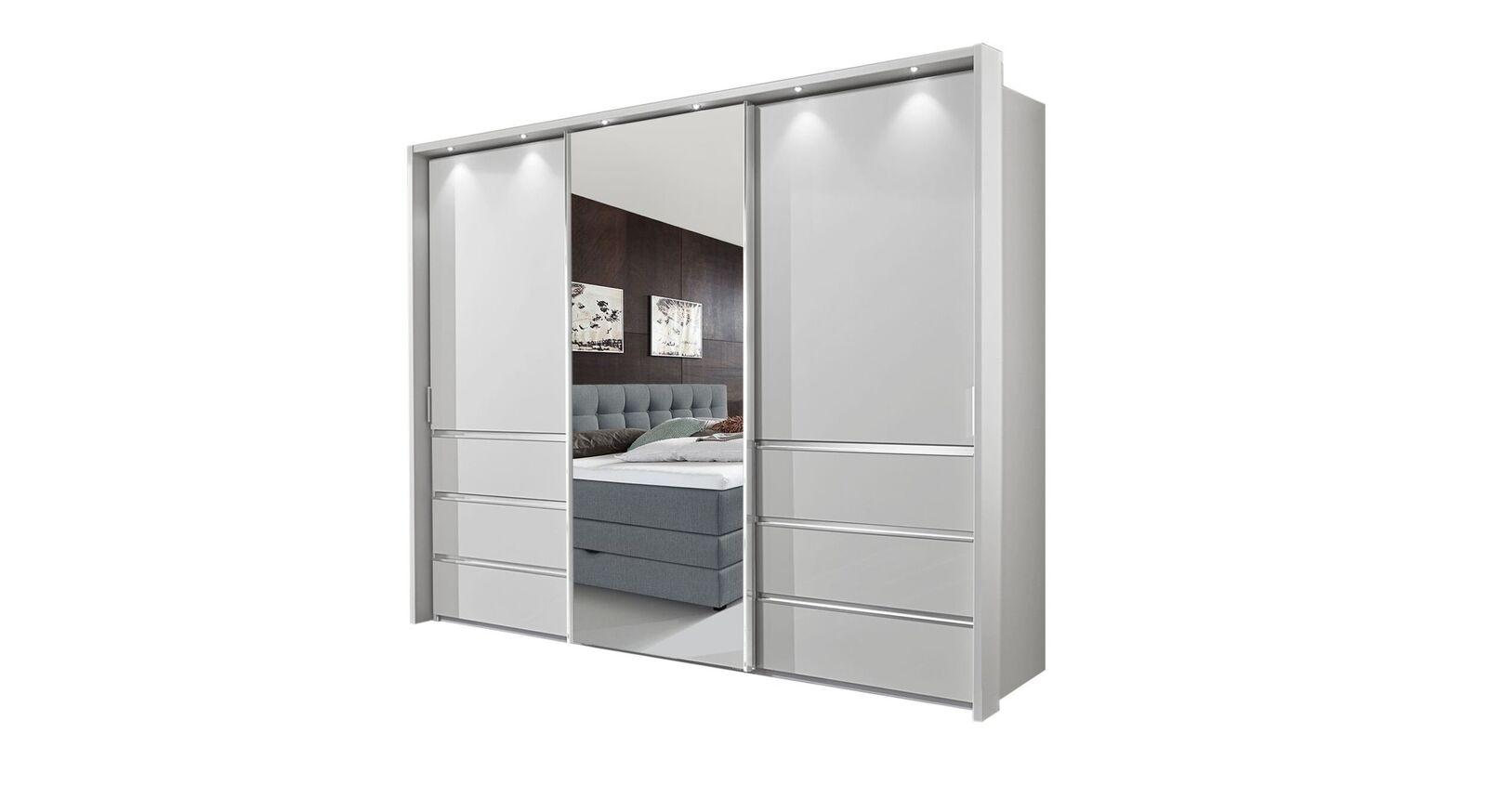 Spiegel-Schwebetüren-Kleiderschrank Tanaria in 250 cm Breite