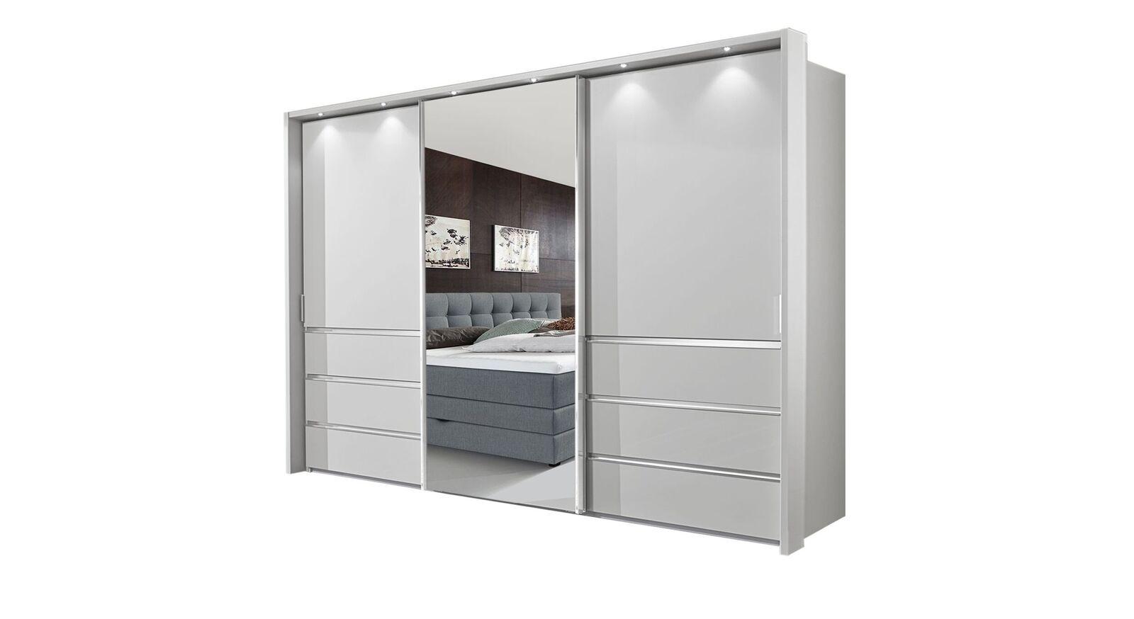 Spiegel-Schwebetüren-Kleiderschrank Tanaria in 300 cm Breite