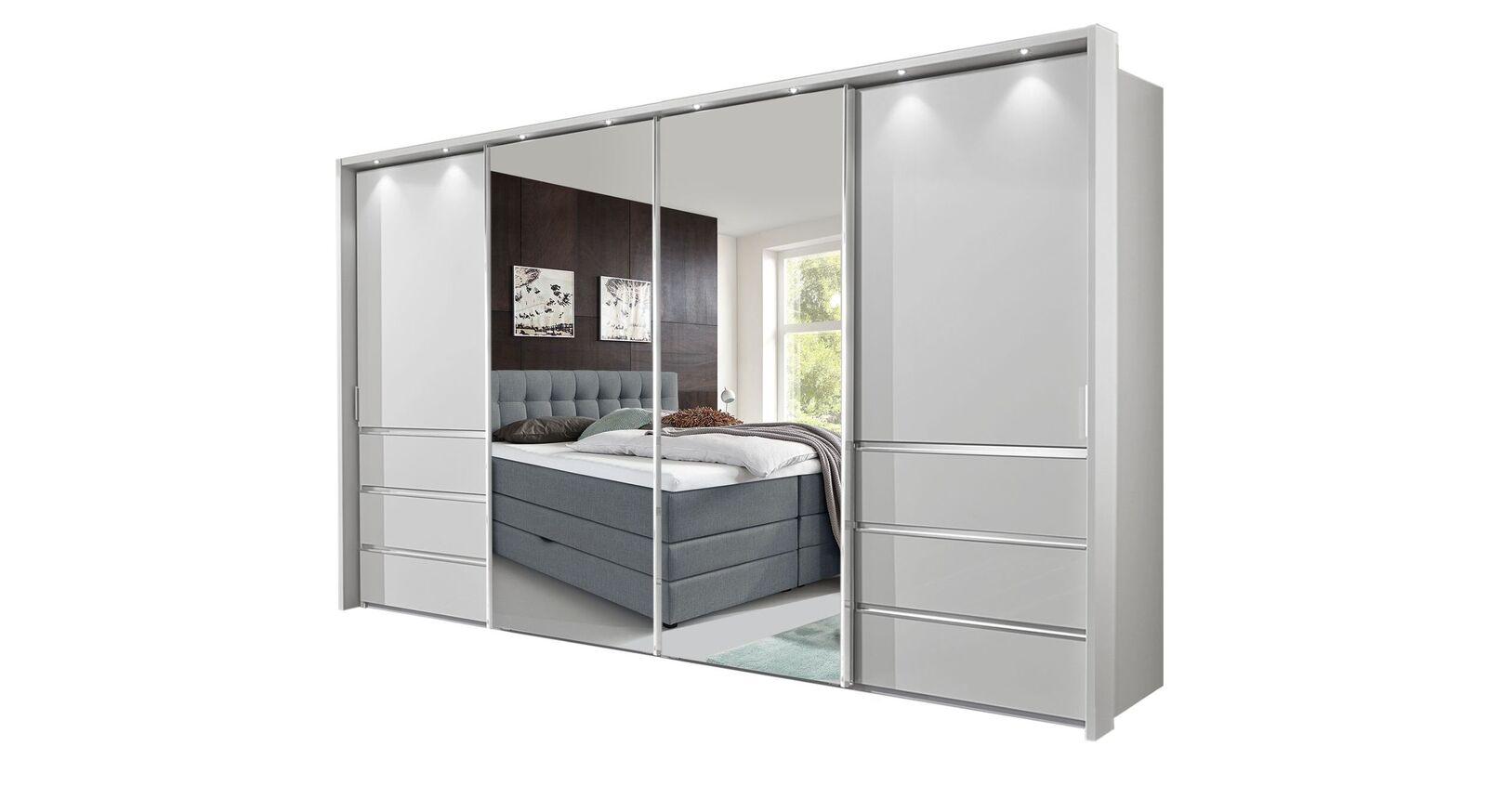Spiegel-Schwebetüren-Kleiderschrank Tanaria in 330 cm Breite