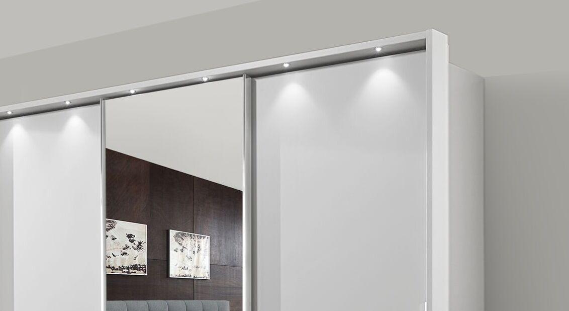 Spiegel-Schwebetüren-Kleiderschrank Tanaria mit attraktivem Rahmen