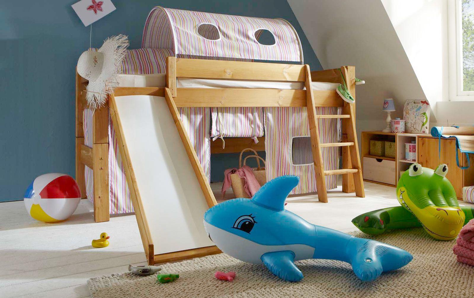 Spielvorhang Midi Hochbett Kids Paradise mit Streifen