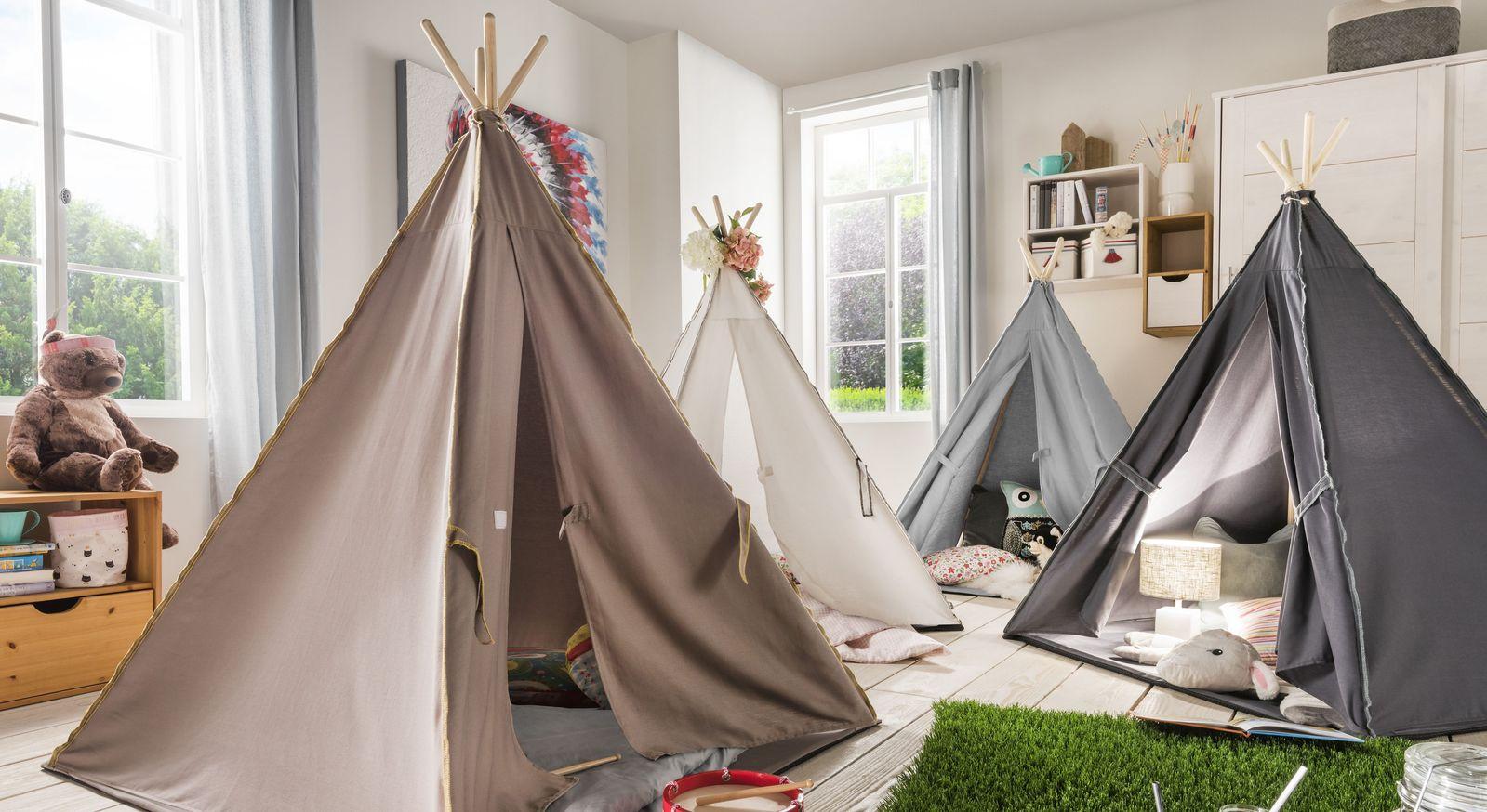 Spielzelt Kids Paradise mit Zeltkonstruktion aus massiver Fichte