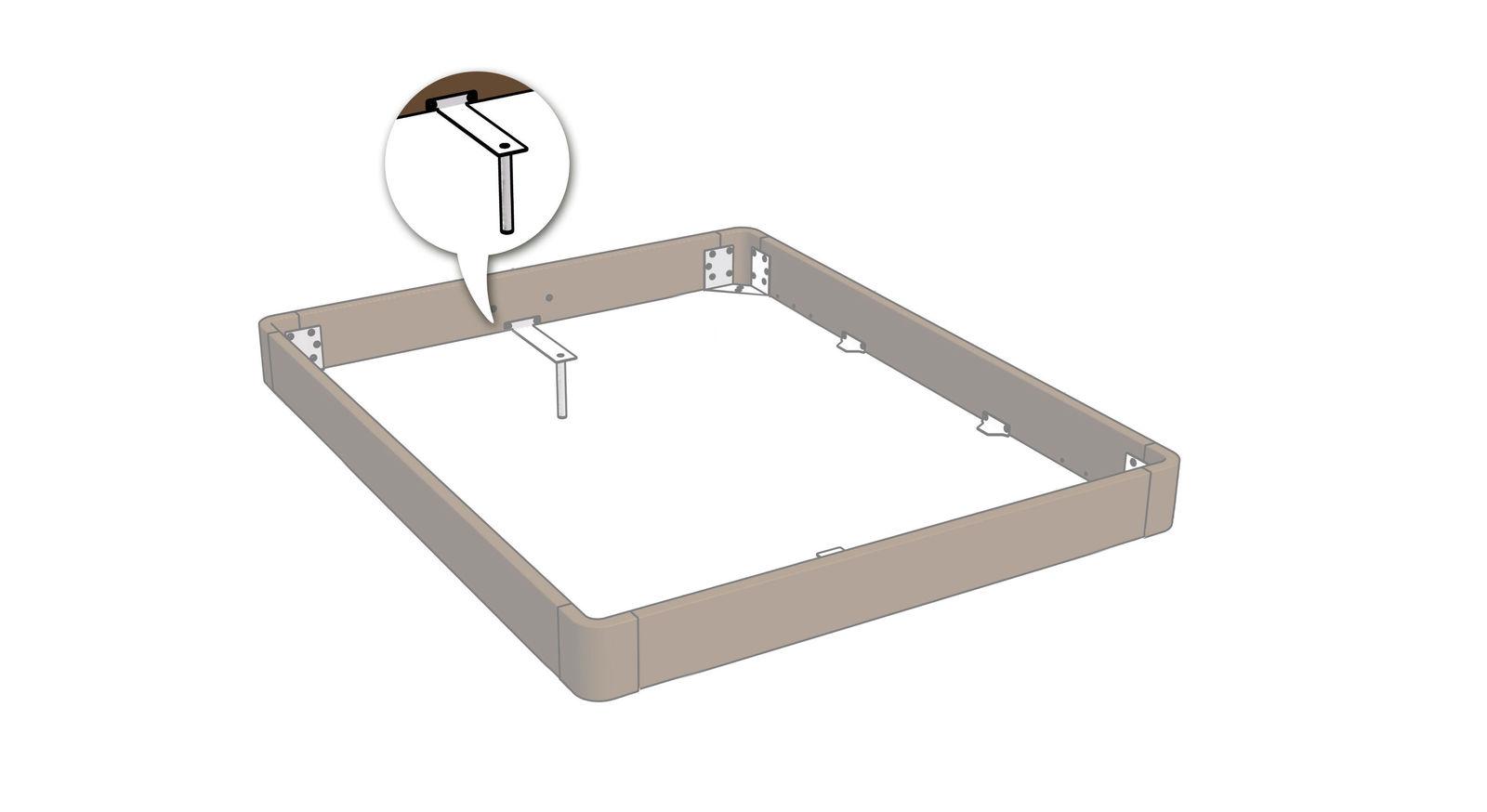 Standard-Ausführung zur Lattenrost-Auflage mit Winkeln