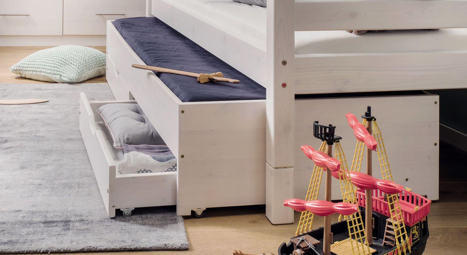 Stauraum-Ausziehbett Kids Paradise mit praktischen Schubladen