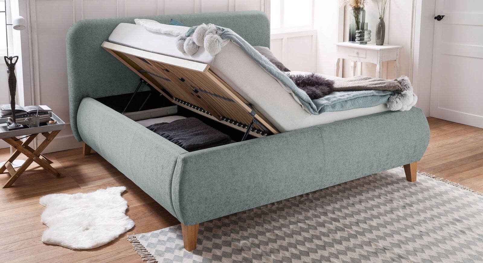 Stauraumbett Korela mit eingebautem Bettkasten