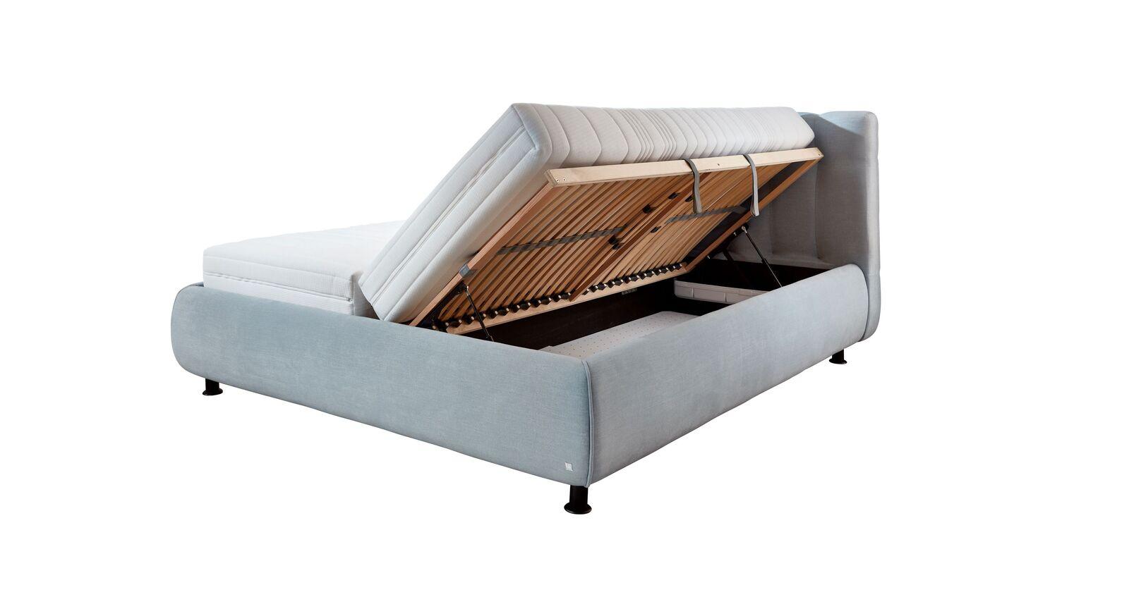 Stauraumbett Sumaya mit integriertem Bettkasten