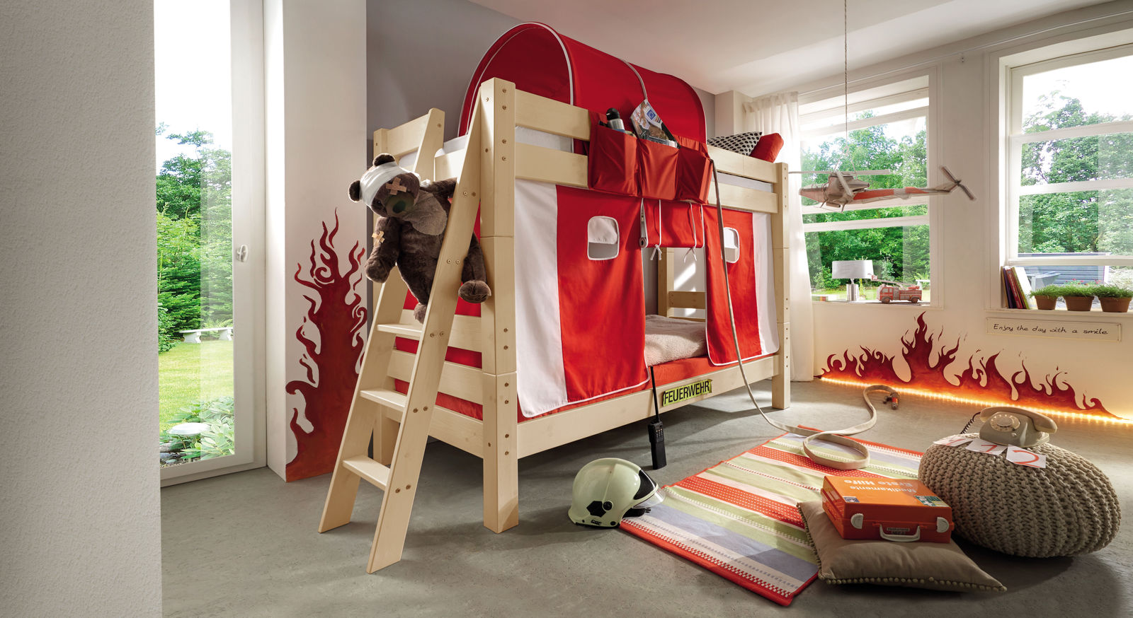 Stockbett Kids Dreams aus Natur lackierter Kiefer
