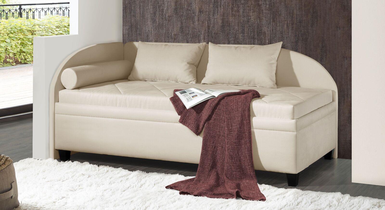 Studioliege Kamina Komfort mit Microvelours-Bezug