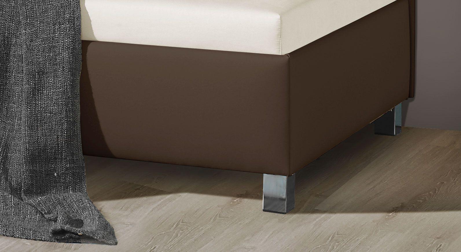 Moderne Studioliege Lisala mit Füßen in Chromoptik