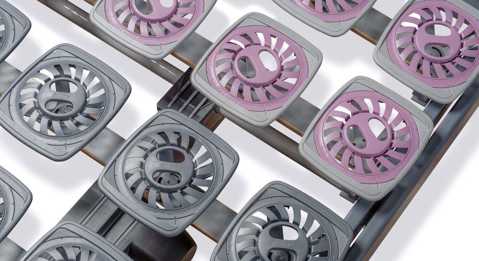 TEMPUR Teller-Lattenrost mit flexiblen Modulen