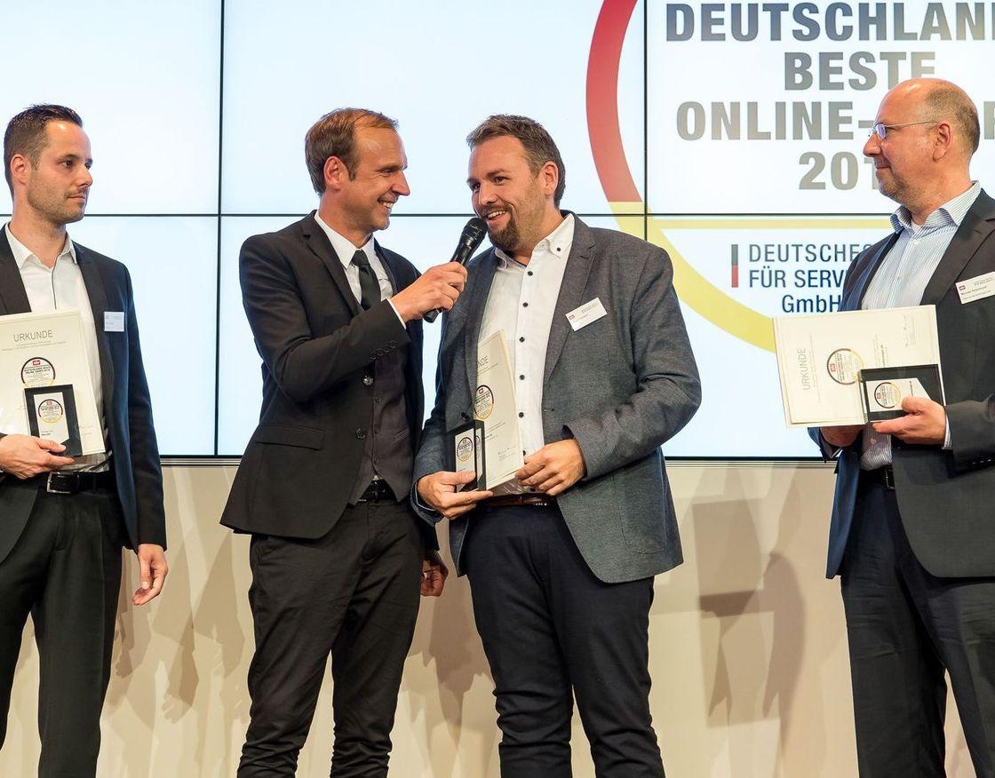 Ulrich Carsten beim Interview auf der Preisverleihung