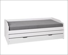3-in-1 Funktionsbett in modernem Weiß lackiert
