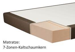 Matratzen-Querschnitt eines 7-Zonen-Kaltschaumkerns