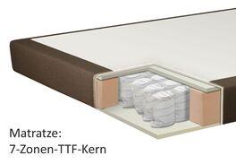 Querschnitt einer 7-Zonen Tonnentaschenfederkern-Matratze