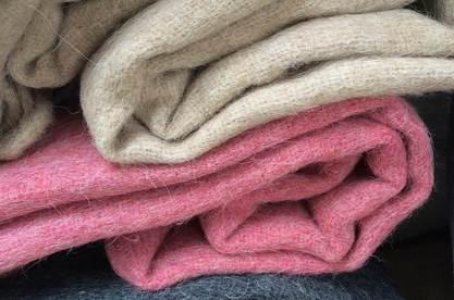 Alpakahaar Wolle Decken