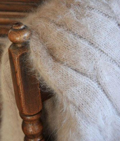 Angorahaar Decke aus Angorawolle