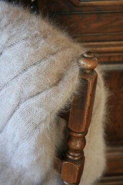 Angorawolle als Decke naturfarben