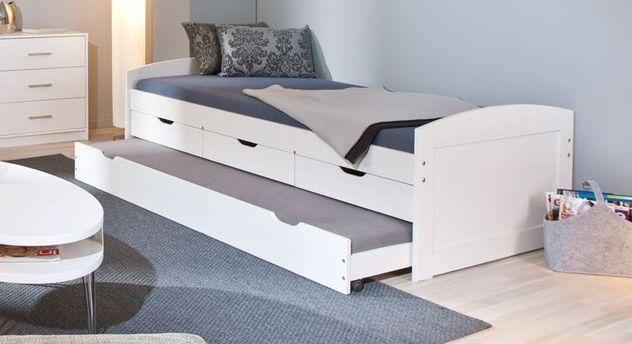 Modernes Ausziehbett Leon mit drei Schubladen