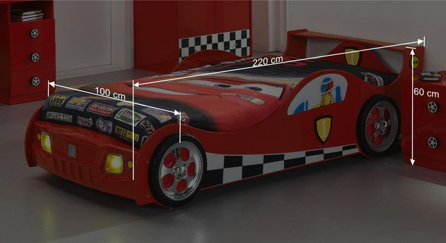Autobett Speedfighters Bemaßungsgrafik