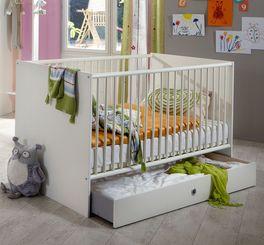 Babybett Armilla in alpinweißem Dekor
