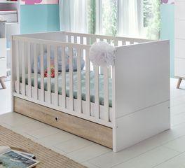 Babybett Beano aus alpinweißem Dekor