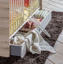 Babybett Tropea mit geräumiger Bettschublade