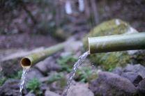Bambus Wasserleitung