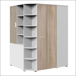 begehbarer eck kleiderschrank f r kinder jugendliche solero. Black Bedroom Furniture Sets. Home Design Ideas
