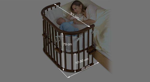 Bemaßungsgrafik zum Beistellbett BabyBay Original