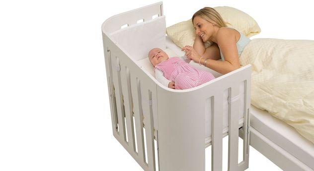 Modernes Beistellbett BabyBay Trend in Weiß