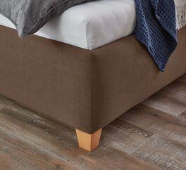 Bett Adana mit Füßen aus massiver Buche