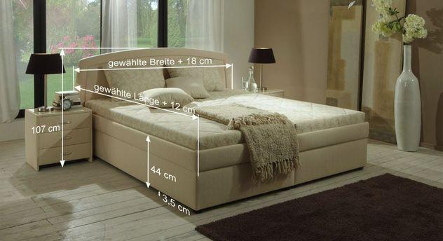 Bemaßungs-Skizze für Bett Allgra