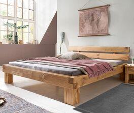 Bett Areska aus massiver Wildeiche