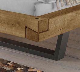 Bett Arsos mit konischen Stahl-Bettbeinen