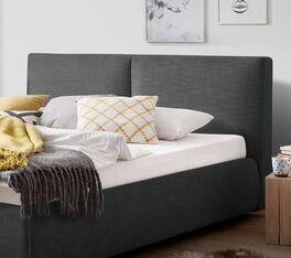 Bett Astarte mit optisch geteiltem Polsterkopfteil
