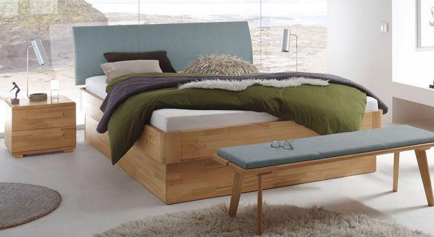 modernes massivholzbett aus kernbuche mit bettkasten ballina. Black Bedroom Furniture Sets. Home Design Ideas