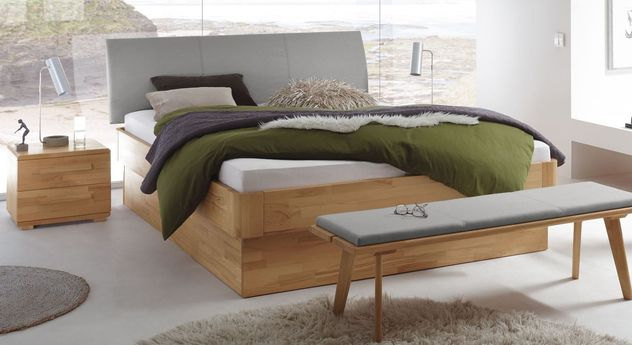modernes massivholzbett aus kernbuche mit bettkasten ballina. Black Bedroom Furniture Sets. Home Design Ideas